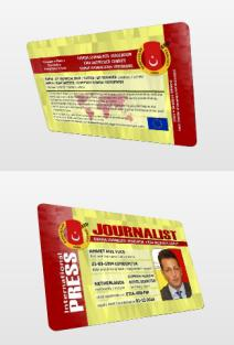 int journalist press card